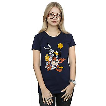 Space Jam Women's Bugs And Daffy Group Shot T-Shirt