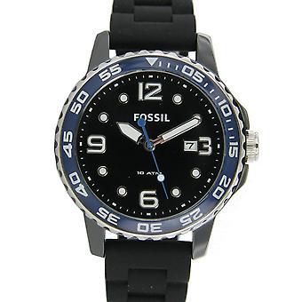 Fossil Herren Uhr Armbanduhr Keramik Silikon CE5004