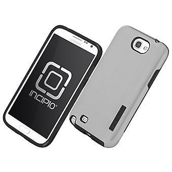 Incipio Dual Pro glans fallet för Samsung Galaxy Note 2 - Silver/svart (SA-326)
