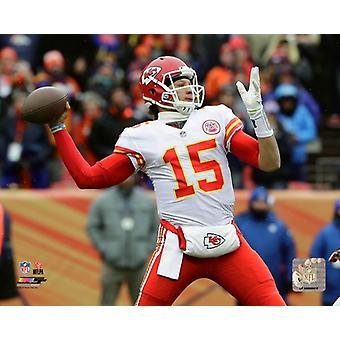 Patrick Mahomes 2017 Action Photo Print