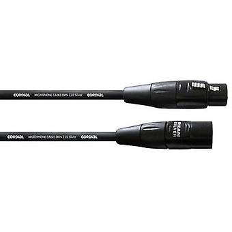 Cordial CIM5FM XLR Kabel [1x XLR-Buchse - 1x XLR Stecker] 5.00 m Schwarz