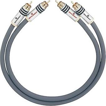 RCA audio/phono kabel [2x RCA plug (phono)-2x RCA plug (phono)] 4,25 m antraciet vergulde connectors Oehlbach NF 14 MASTER