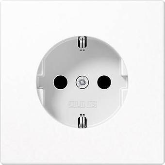 Jung Insert PG socket LS plus, LS design, LS 990 White LS1520KI