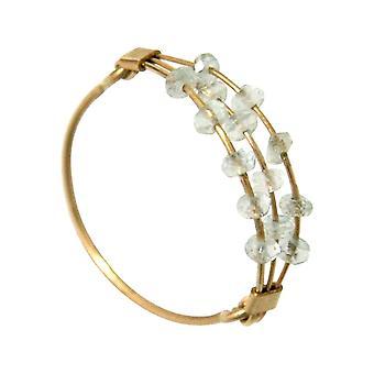 Gemshine kvinders ring forgyldt akvamarin blå