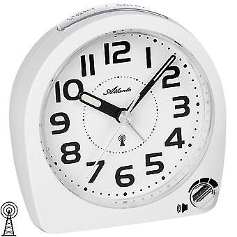 Atlanta white 1838/0 alarm clock radio alarm clock with snooze light