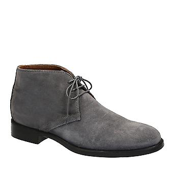 Men's chukka boots in grey suede leather made in Italy