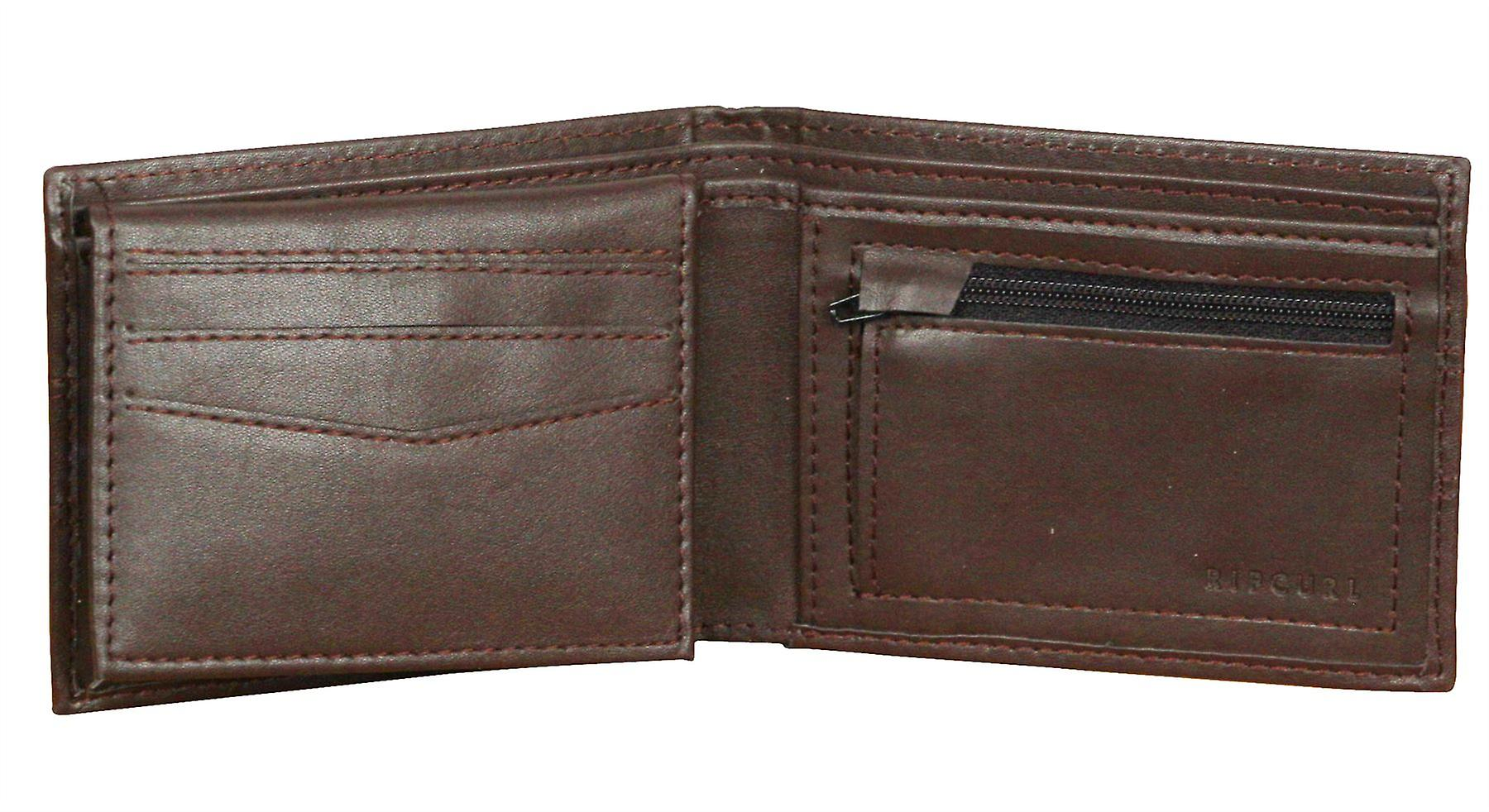 Rip Curl Wallet With CC, Note and Coin Sections ~ Word Boss All Day brown