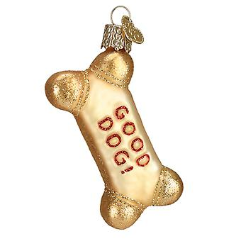 Old World Christmas Dog Biscuit Good Dog Holiday Ornament