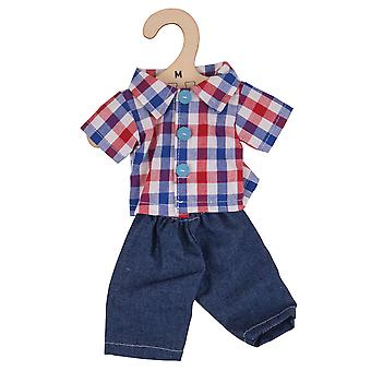 Bigjigs Toys Plush Checked Shirt & Jeans (34cm) Soft Rag Doll Outfit