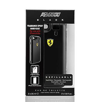 Ferrari preto do presente conjunto 2 x 25ml EDT + perfume Spray caso difícil para Iphone6