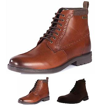 Mens Barbour Hury Leather Work Smart Office Derby Formal Ankle Boots