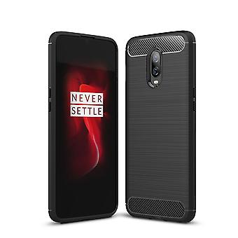 OnePlus 6T carbon fiber shell-zwart