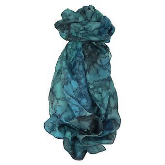Maulbeer Seide handbemalt langer Schal klassische französische Blues von Pashmina & Seide