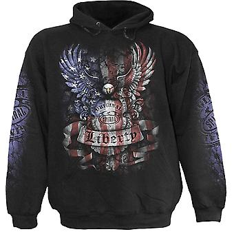 Spiral Direct Gothic LIBERTY USA - Hoody Black|Skulls|Flag