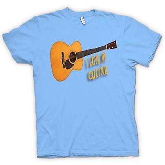 Womens T-shirt - ich liebe meine akustische Gitarre