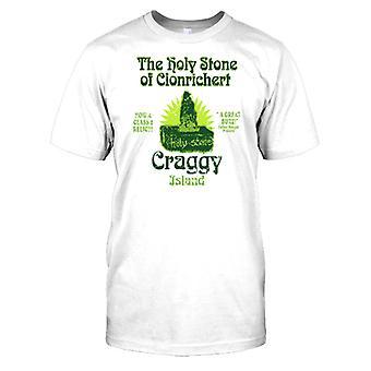 La piedra Santa de Clonrichert - escarpada isla para hombre camiseta