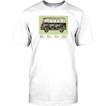 VW Bus 59 Deluxe Cutaway autocaravana Mens T Shirt