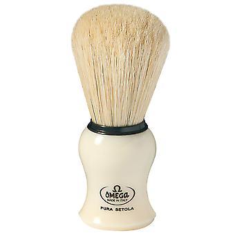Cepillo de afeitar Omega Pig Hair Ivory suite