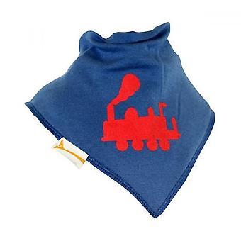 Bavaglino bandana di blu & rosso choo choo