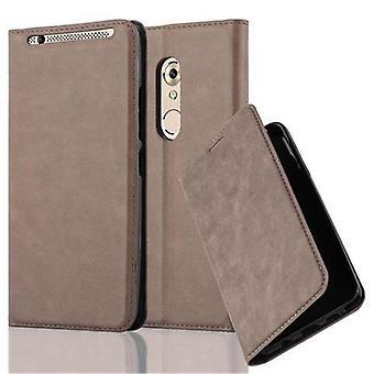 Cadorabo tapauksessa ZTE Axon 7 tapauksessa tapauksessa kansi - matkapuhelin tapauksessa magneettinen lukko, seistä toiminto ja korttiosasto - Case Cover suojakotelo tapauksessa kirja folding style