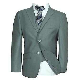 Boys Light Grey Formal Suit Sets