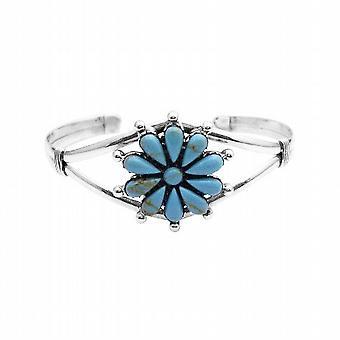 Perfekt als Geschenk für Ihre Mutter Blumenmuster Turquiose Sterling Armband