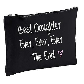 Najlepsze córka kiedykolwiek kiedykolwiek kiedykolwiek koniec czarny makijaż torba