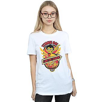 DC Comics naisten Teen Titans mennä, olen johtaja poikaystävä Fit t-paita