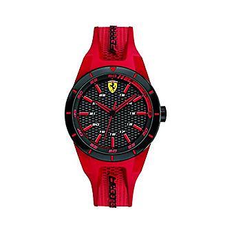 Scuderia Ferrari 0840005 quartzo unissex, adulta, clássica analógico dial e silicone cinta
