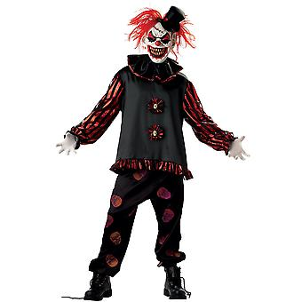 Carver The Clown Joker Jester Horror Creepy Evil Scary Halloween Mens Costume