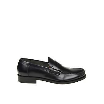 Doucal's Du1006belfus007nb02 Men's Black Leather Loafers
