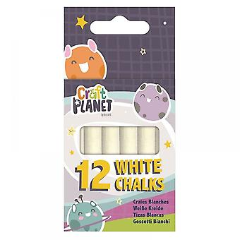 Craft Planet White Chalk Pack Of 12