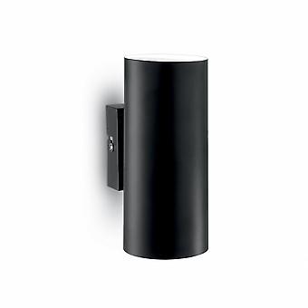 Идеальные Lux Мэтт Блэк современные вверх вниз свет стены открытый цилиндр