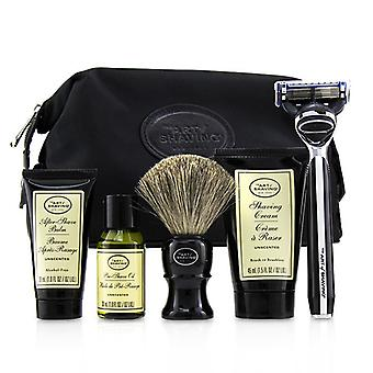 The Art Of Shaving The Four Elements Of The Perfect Shave Set With Bag - Unscented: Pre Shave Oil + Shave Crm + A/s Balm + Brush + Razor - 5pcs+1Bag