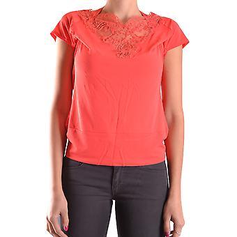 Apenas Cavalli Ezbc141028 Mulheres's Orange Viscose T-shirt