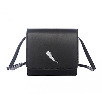 Intrigue Womens/Ladies Embroidery Feather Crossbody Bag