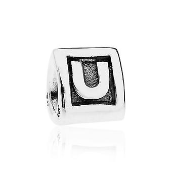 Pandora Alpha U argento iniziale Charm 790323U