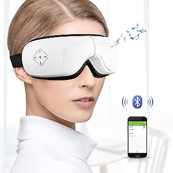 Phniti Electric Eye Massager, Wireless Ricaricabile con compressione termica, pressione dell'aria, musica Bluetooth e 5 modalità di lavoro per il sollievo dallo stress degli occhi secchi affaticamento oculare