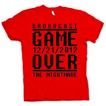 Womens T-shirt - Spiel über 2012 Alptraum - Apokalypse Ende Tage