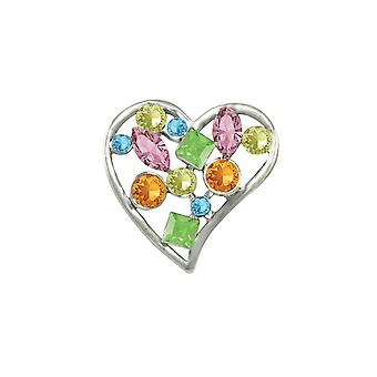 Eeuwige collectie aanbidding Multi gekleurde Oostenrijkse Crystal broche