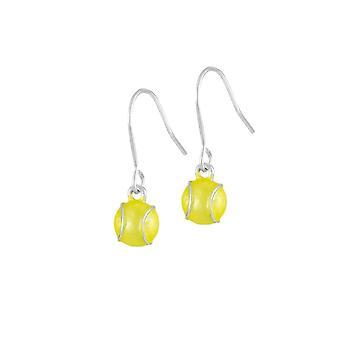 Ewige Sammlung jedermann für Tennis gelbe Emaille Tropfen Ohrhänger