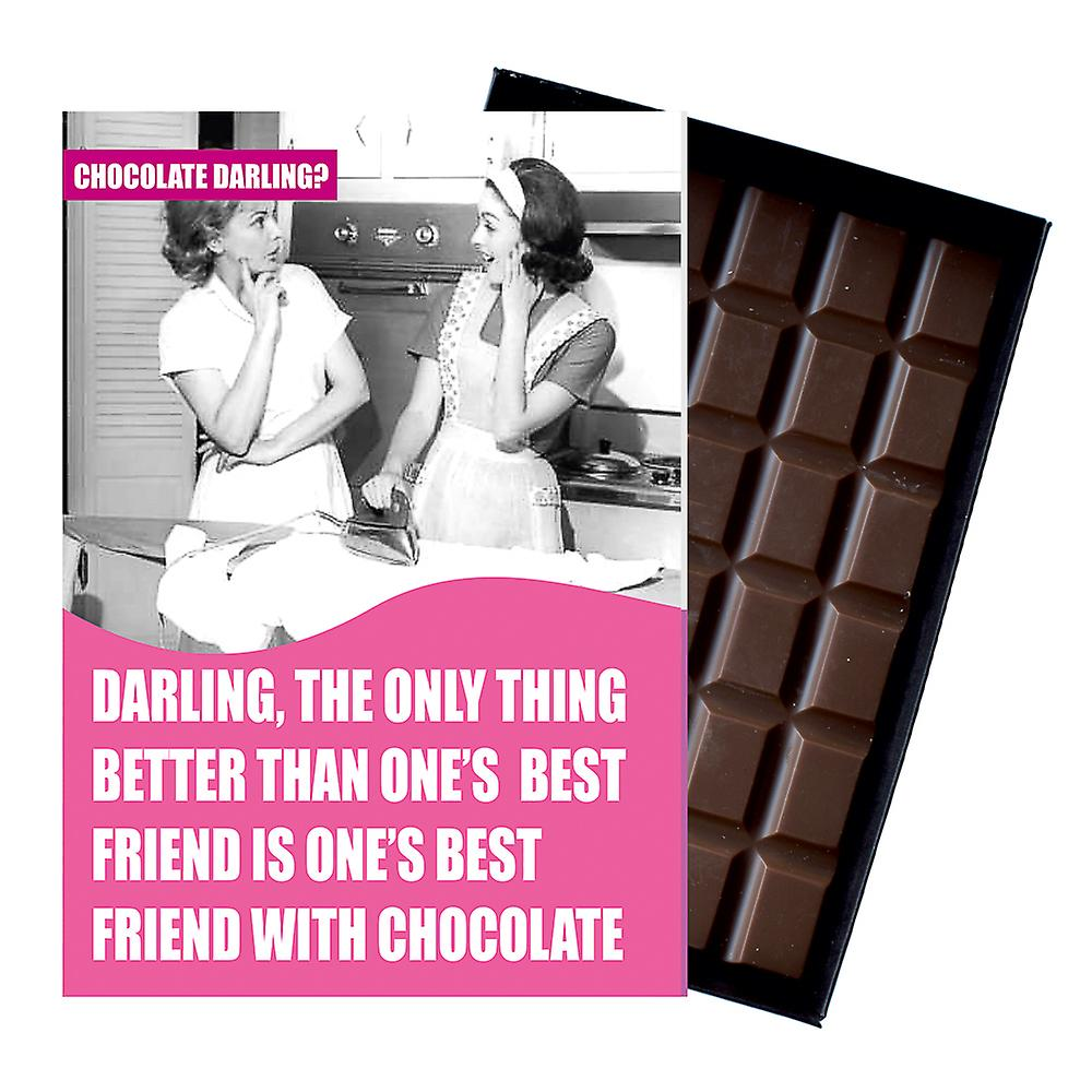 Funny Birthday Gift For GirlFriend Friend Women Boxed Chocolate Greeting Card Present CDL112