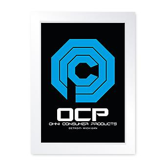 OCP Robo Cop Movie Inspired Framed Print Home Decor Wall Art Man Cave