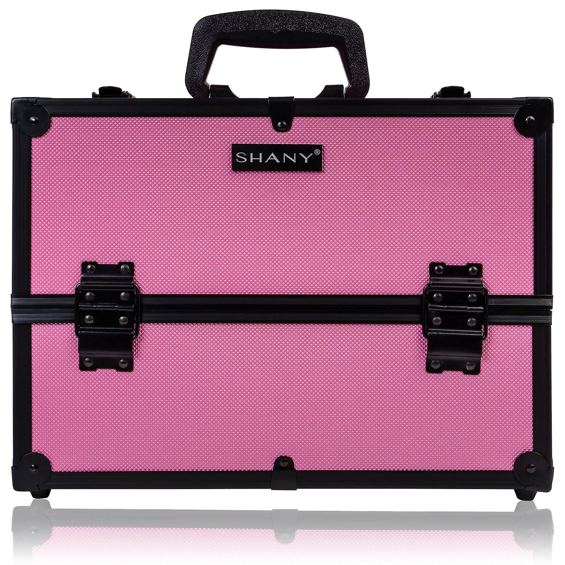SHANY Essential Pro Makeup Train Case with Shoulder Strap and Locks
