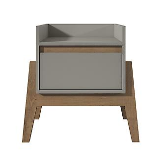 Manhattan comfort  essence 1-full extension drawer nightstand in grey