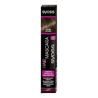 Syoss Hair Mascara Cobertura Temporal #castaño 16 Ml For Women
