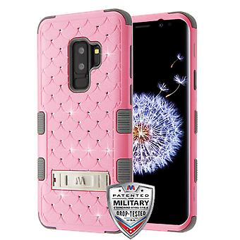 MYBAT Pearl Pink/Iron Gray FullStar TUFF Hybrid Case(w/ Stand) for Galaxy S9 Plus