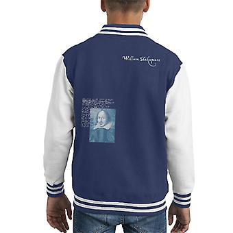 A.P.O.H Williams Shakespeare Writings Portrait Kid's Varsity Jacket