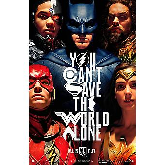 Justice League Original Movie Poster Unite The League 2Nd Advance Style