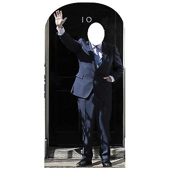 Prime Minister at 10 Downing Street Lifesize Cardboard Cutout Stand-In